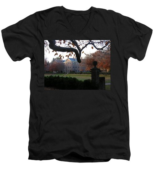 Men's V-Neck T-Shirt featuring the photograph College Of William And Mary by Jacqueline M Lewis