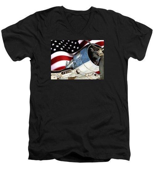 Corsair And Flag Men's V-Neck T-Shirt by Shari Nees
