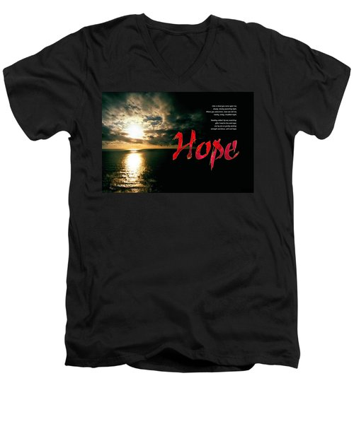 Hope Men's V-Neck T-Shirt by Chuck Mountain