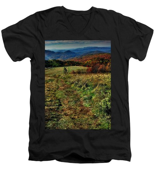Max Patch Men's V-Neck T-Shirt by Janice Spivey
