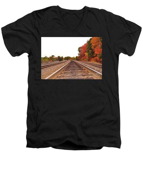 Fall Foliage In New England Men's V-Neck T-Shirt