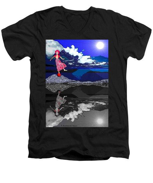 483 -    Dance Of Life Men's V-Neck T-Shirt