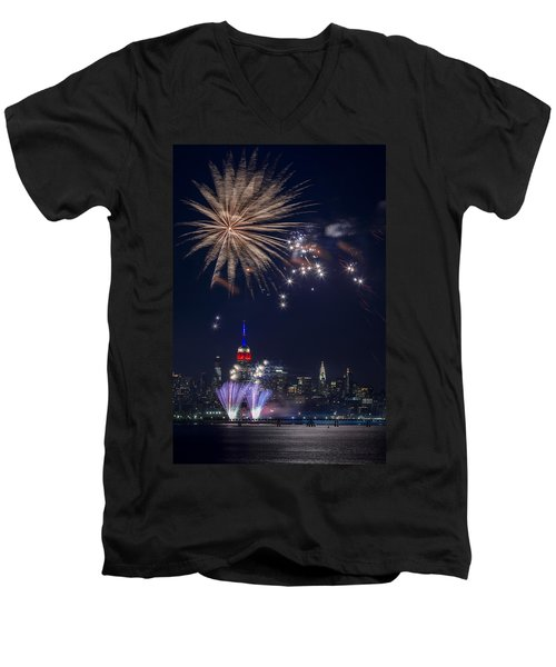 4th Of July Fireworks Men's V-Neck T-Shirt