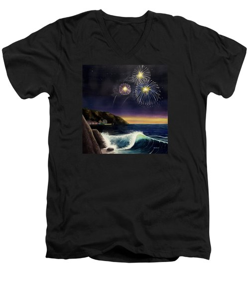 4th On The Shore Men's V-Neck T-Shirt by Jack Malloch