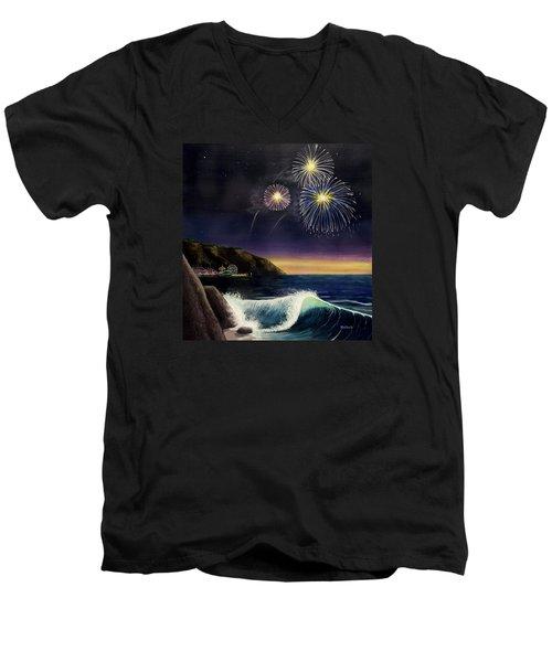4th On The Shore Men's V-Neck T-Shirt