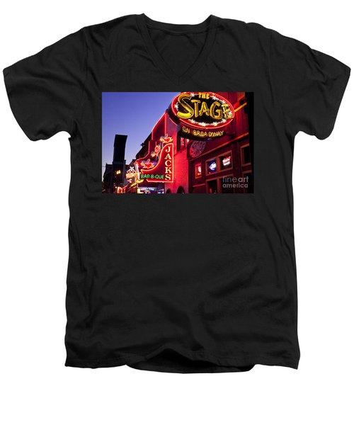 Music City Usa Men's V-Neck T-Shirt