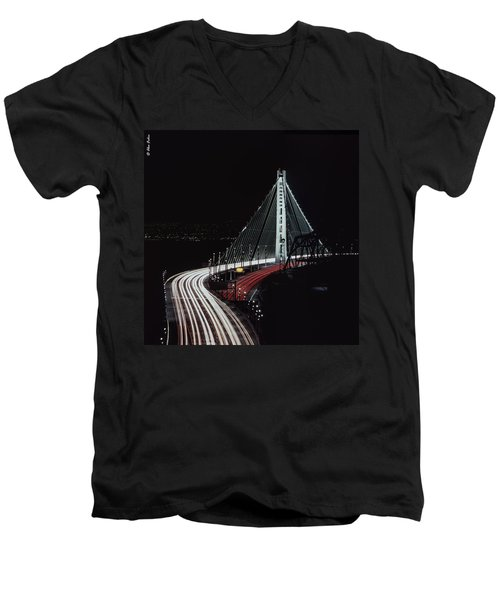 Oakland Bridge Men's V-Neck T-Shirt
