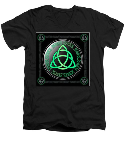 Triquetra Men's V-Neck T-Shirt