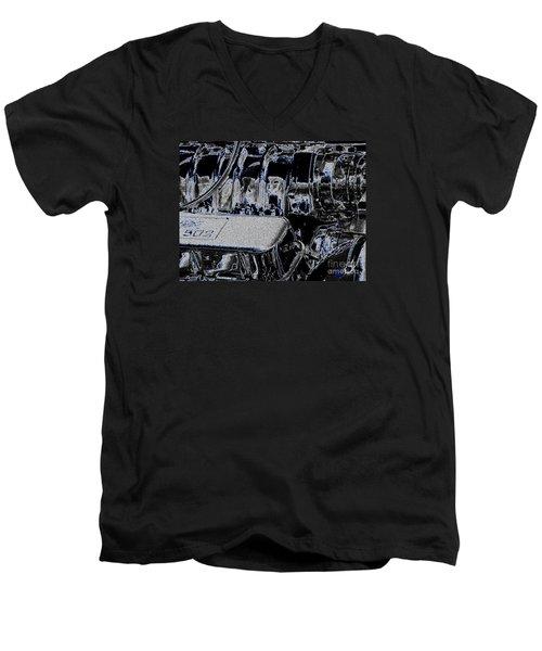 Men's V-Neck T-Shirt featuring the digital art 502 by Chris Thomas
