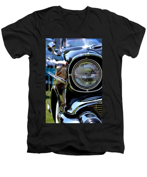 Men's V-Neck T-Shirt featuring the photograph 50's Chevy by Dean Ferreira