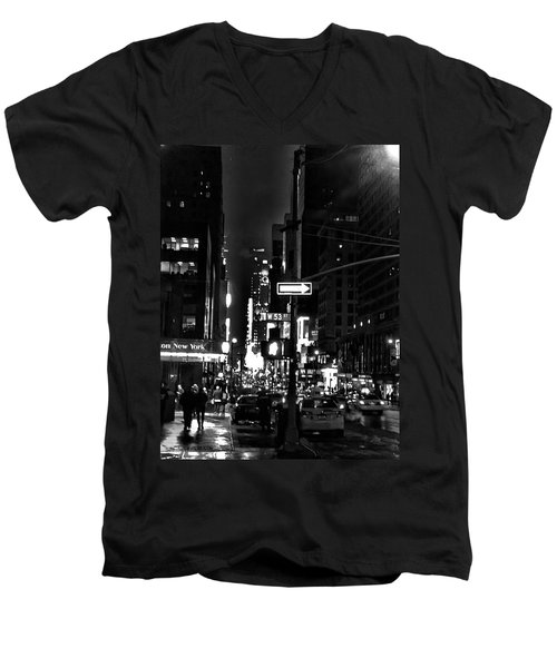 53rd And 7th Men's V-Neck T-Shirt