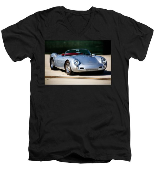 550 Spyder Men's V-Neck T-Shirt by Peter Tellone