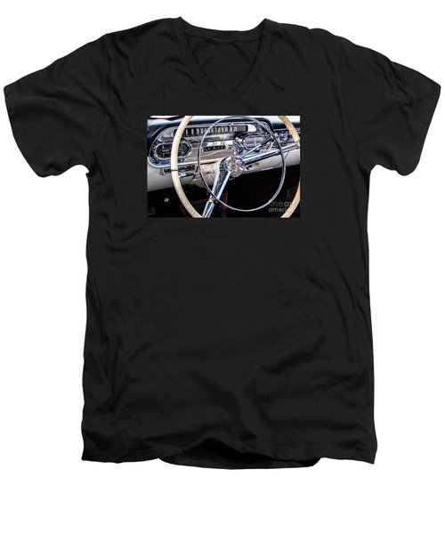 58 Cadillac Dashboard Men's V-Neck T-Shirt by Jerry Fornarotto
