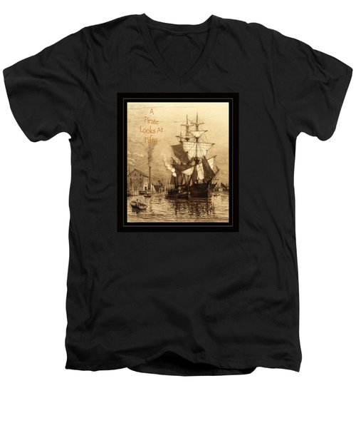 A Pirate Looks At Fifty Men's V-Neck T-Shirt by John Stephens