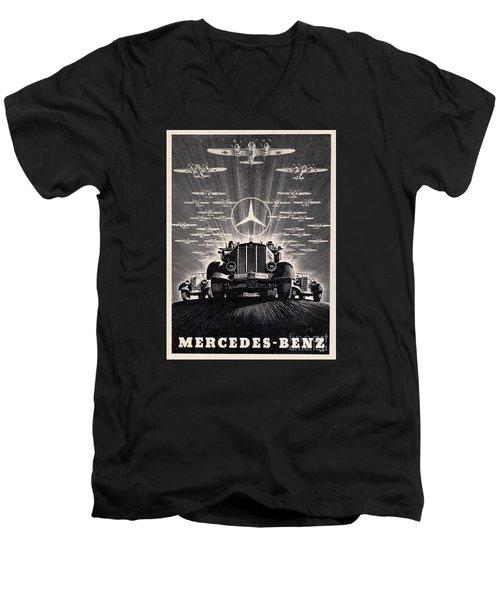 Mercedes - Benz Men's V-Neck T-Shirt