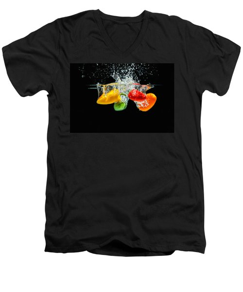 Splashing Paprika Men's V-Neck T-Shirt