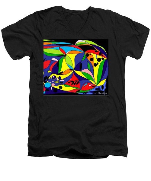 Design By Loxi Sibley Men's V-Neck T-Shirt by Loxi Sibley