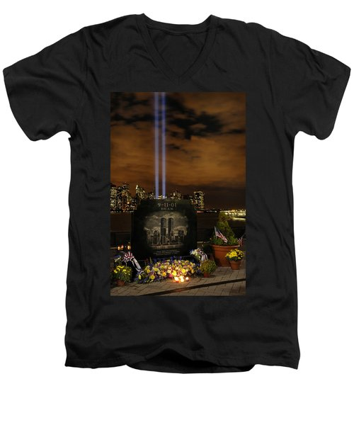 9-11 Monument Men's V-Neck T-Shirt