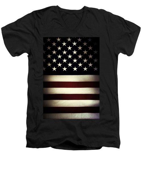 American Flag 60 Men's V-Neck T-Shirt