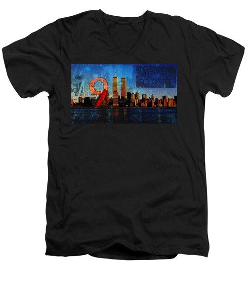 911 Never Forget Men's V-Neck T-Shirt