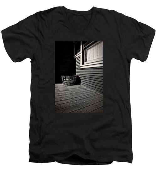 Over A Barrel Men's V-Neck T-Shirt