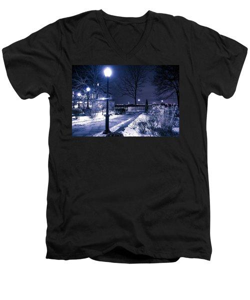 A Battery Park Winter Men's V-Neck T-Shirt
