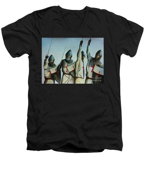 A Battle Won Men's V-Neck T-Shirt