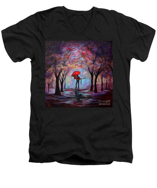 A Beautiful Romance Men's V-Neck T-Shirt