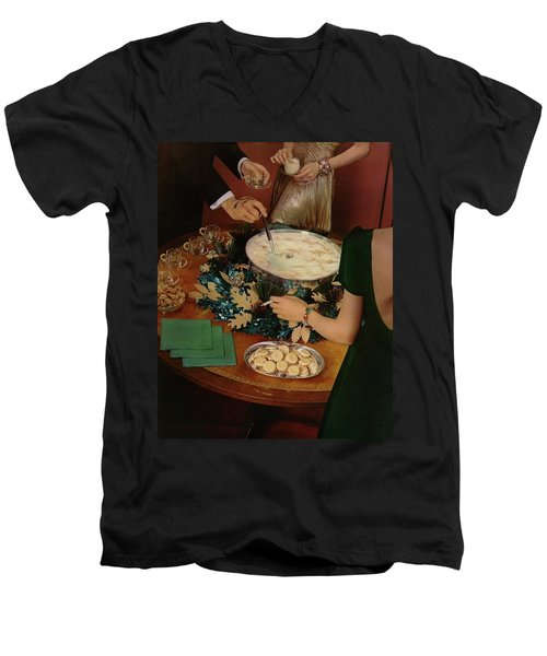 A Bowl Of Eggnog Men's V-Neck T-Shirt