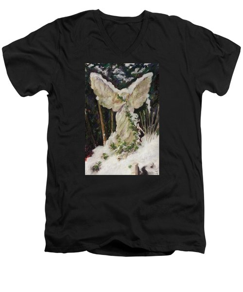 A Breath Of Snow And Ivy,  Highgate Cemetery Men's V-Neck T-Shirt