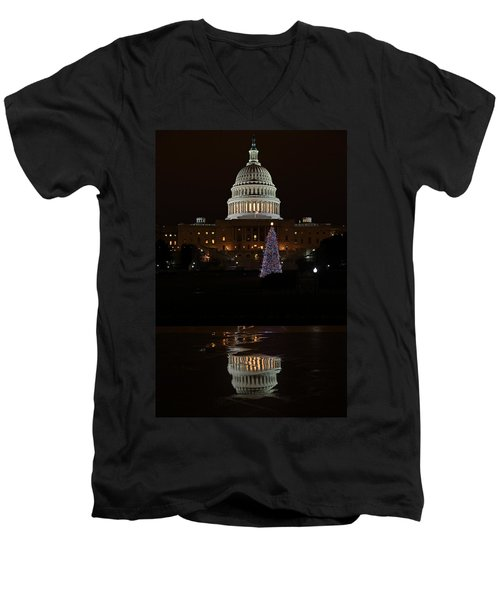 A Capitol Reflection Men's V-Neck T-Shirt