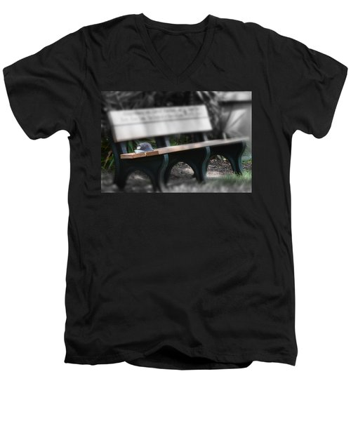Men's V-Neck T-Shirt featuring the photograph A Child Somewhere In My Dreams by DigiArt Diaries by Vicky B Fuller