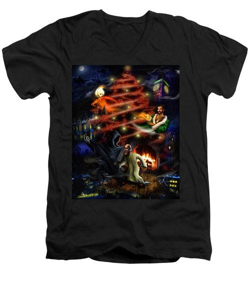 A Christmas Carol Men's V-Neck T-Shirt