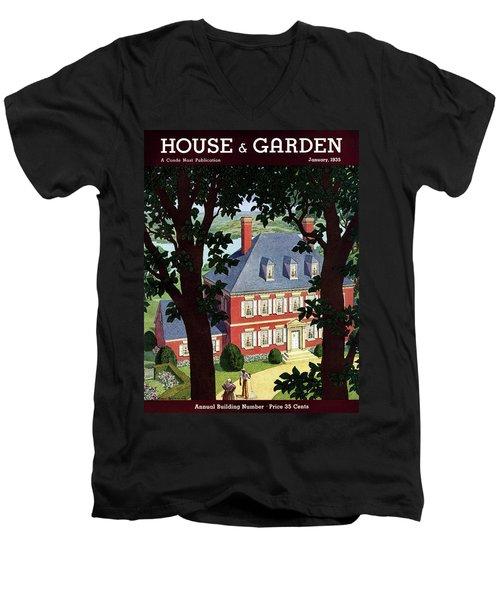 A Colonial Manor House Men's V-Neck T-Shirt