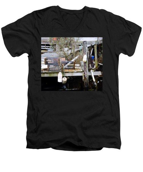 A Crab Fishermans Still Life Men's V-Neck T-Shirt