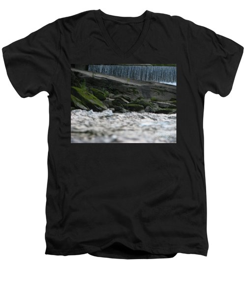 Men's V-Neck T-Shirt featuring the photograph A Day At The River by Michael Krek