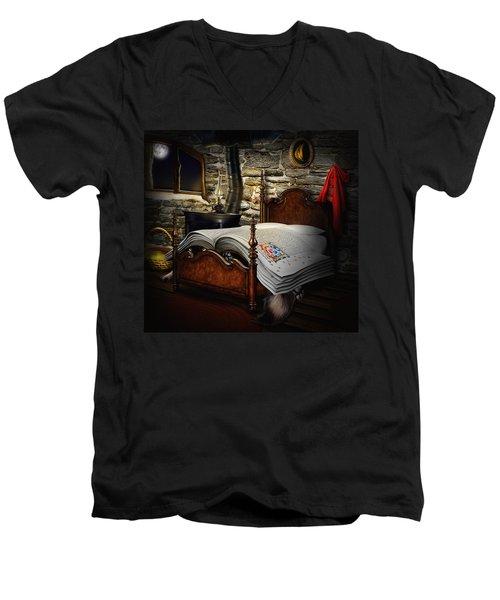 A Fairytale Before Sleep Men's V-Neck T-Shirt