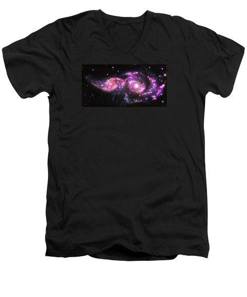 A Galactic Get-together Men's V-Neck T-Shirt by Nasa