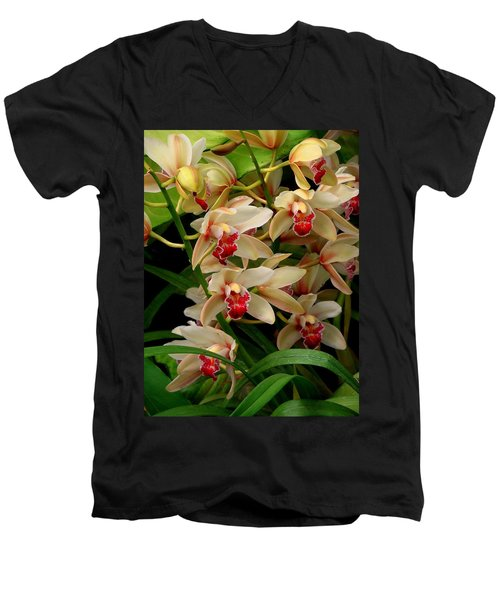 Men's V-Neck T-Shirt featuring the photograph A Gathering by Rodney Lee Williams