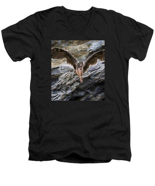 A Guardian Angel Men's V-Neck T-Shirt