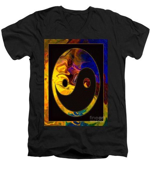 A Happy Balance Of Energies Abstract Healing Art Men's V-Neck T-Shirt