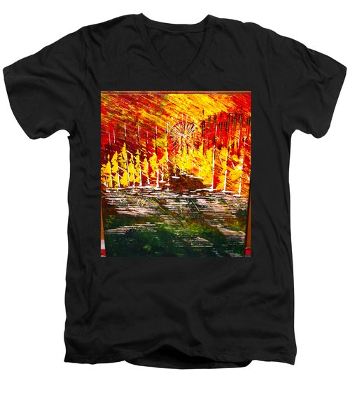 A Hot Summer Day.- Sold Men's V-Neck T-Shirt by George Riney
