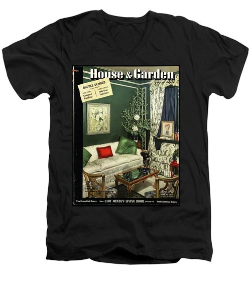 A House And Garden Cover Of Lady Mendl's Sitting Men's V-Neck T-Shirt