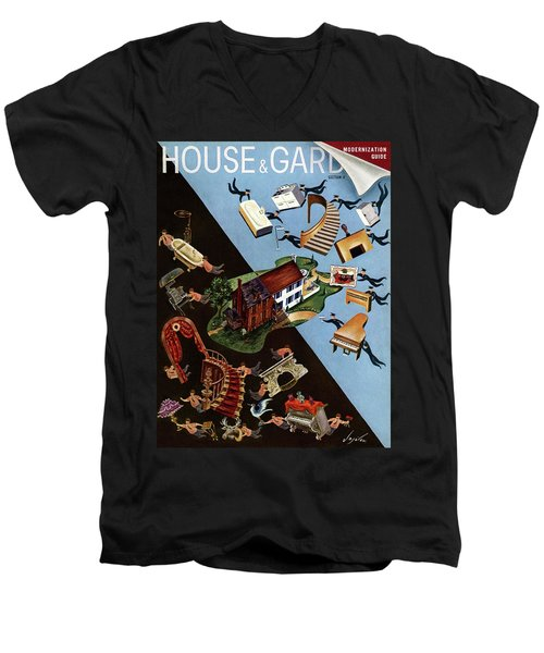 A House And Garden Cover Of People Moving House Men's V-Neck T-Shirt