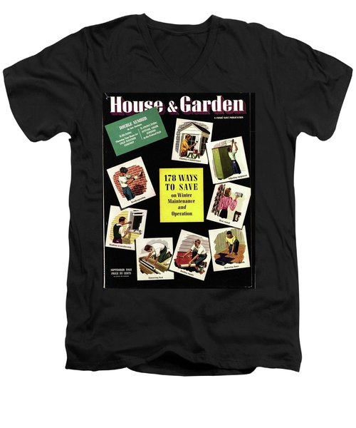 A House And Garden Cover Of Renovation Men's V-Neck T-Shirt