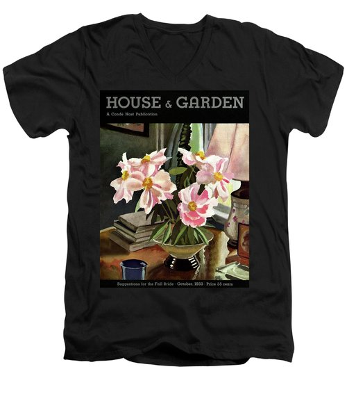 A House And Garden Cover Of Rhododendrons Men's V-Neck T-Shirt
