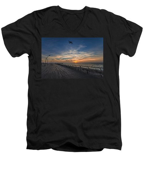 a kodak moment at the Tel Aviv port Men's V-Neck T-Shirt