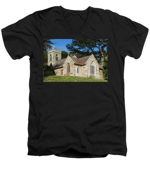 A Little Church In Warwickshire Men's V-Neck T-Shirt by Linsey Williams