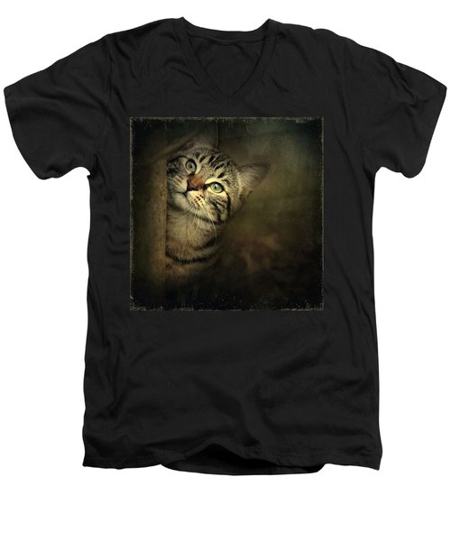 A Little Shy Men's V-Neck T-Shirt