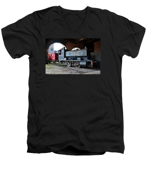 A Locomotive At The Colliery Men's V-Neck T-Shirt by RicardMN Photography